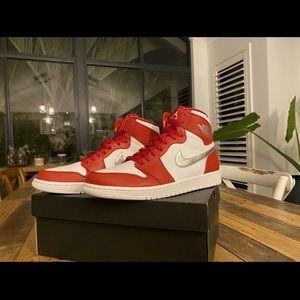 Air Jordan 1's Mens Red, White and Metalic